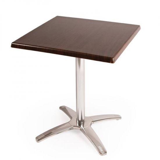 Special Offer Bolero Square Dark Brown Table Top And Base Combo URO SA225