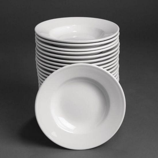 Bulk Buy Athena Hotelware Rimmed Soup Bowls 228mm Box of 24 URO SA235