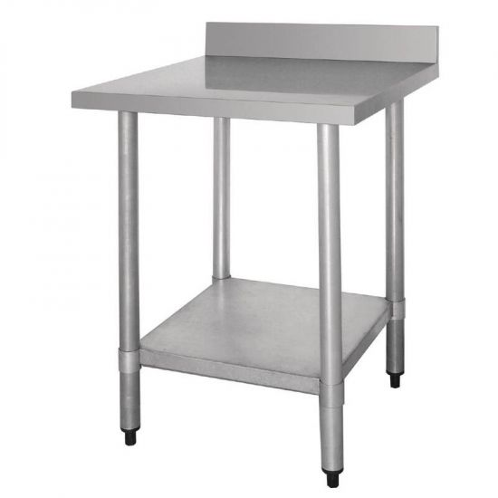 Vogue Stainless Steel Prep Table With Upstand 600mm URO T379