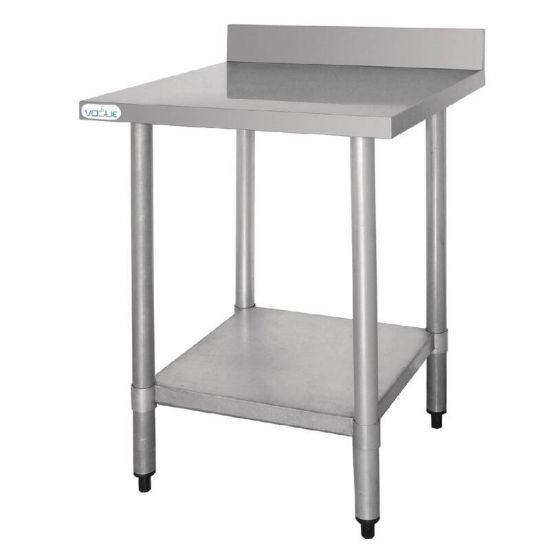 Vogue Stainless Steel Prep Table With Upstand 900mm URO T380