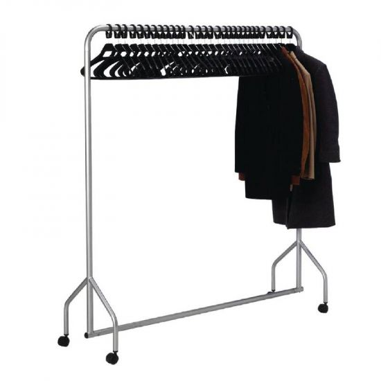 Metal Garment Rail With Hangers URO T441
