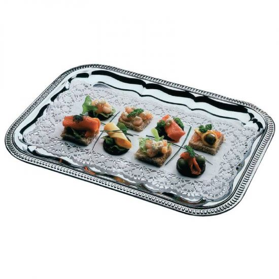 APS Semi-Disposable Party Tray 410 X 310mm Chrome URO T751