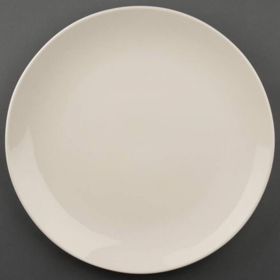 Olympia Ivory Round Coupe Plates 310mm Box of 6 URO U135