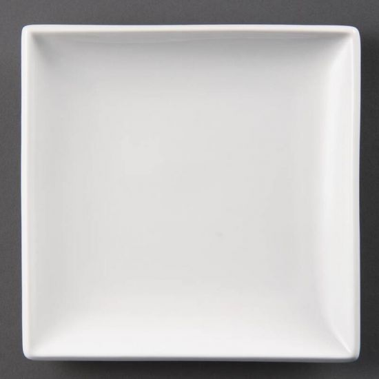 Olympia Whiteware Square Plates 240mm Box of 12 URO U155