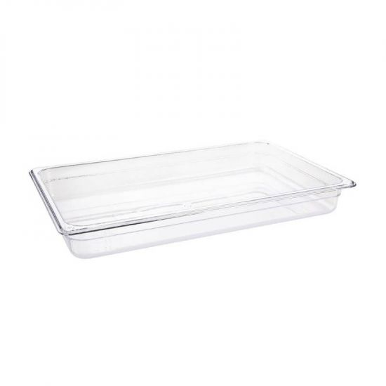 Vogue Polycarbonate 1/1 Gastronorm Container 65mm Clear URO U224