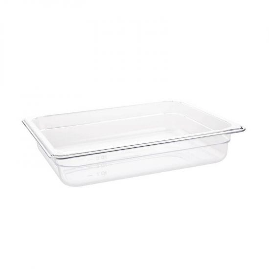 Vogue Polycarbonate 1/2 Gastronorm Container 65mm Clear URO U228