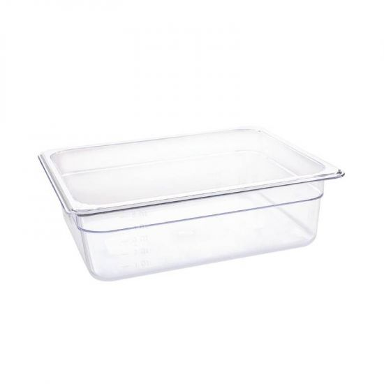 Vogue Polycarbonate 1/2 Gastronorm Container 100mm Clear URO U229