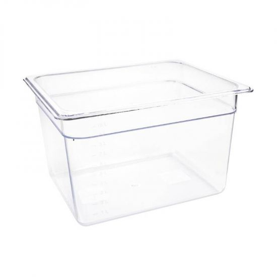 Vogue Polycarbonate 1/2 Gastronorm Container 200mm Clear URO U231