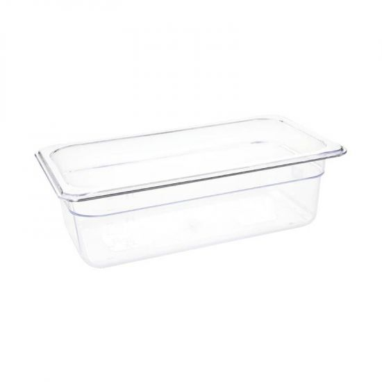 Vogue Polycarbonate 1/3 Gastronorm Container 100mm Clear URO U233