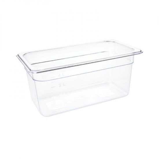 Vogue Polycarbonate 1/3 Gastronorm Container 150mm Clear URO U234