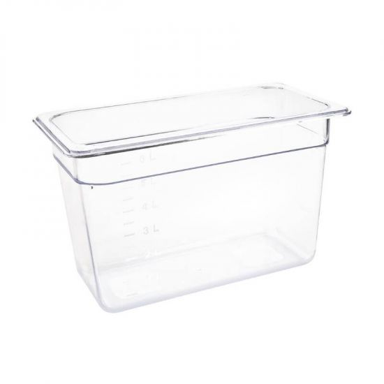 Vogue Polycarbonate 1/3 Gastronorm Container 200mm Clear URO U235