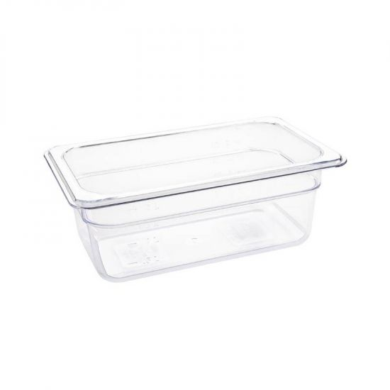 Vogue Polycarbonate 1/4 Gastronorm Container 100mm Clear URO U237