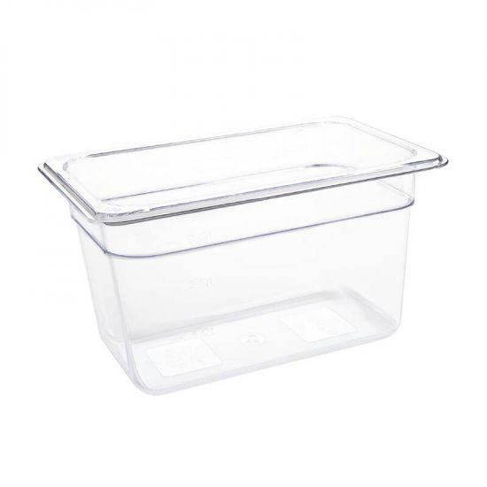 Vogue Polycarbonate 1/4 Gastronorm Container 150mm Clear URO U238