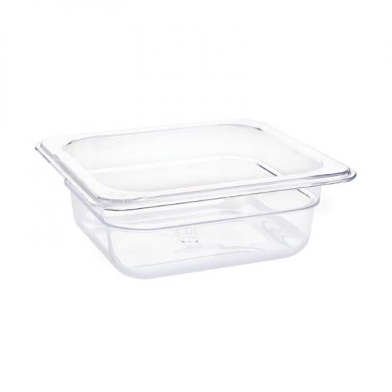 Vogue Polycarbonate 1/6 Gastronorm Container 65mm Clear URO U239