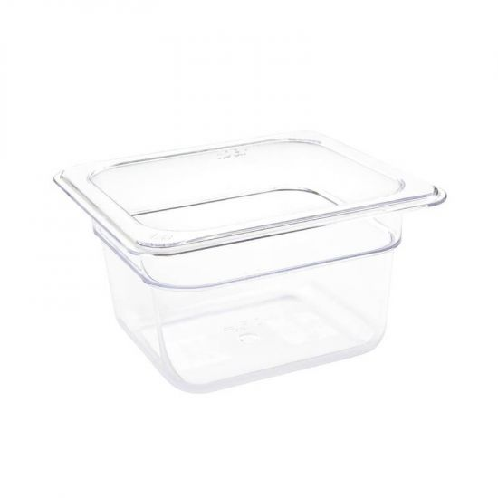 Vogue Polycarbonate 1/6 Gastronorm Container 100mm Clear URO U240