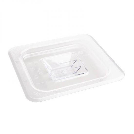 Vogue Polycarbonate 1/6 Clear Gastronorm Lid URO U248