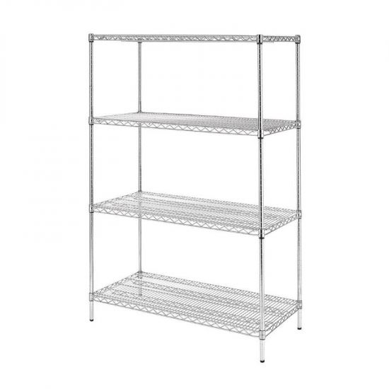 Vogue 4 Tier Wire Shelving Kit 1220x610mm URO U257