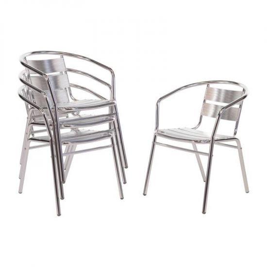Bolero Aluminium Stacking Chairs (Pack Of 4) URO U419