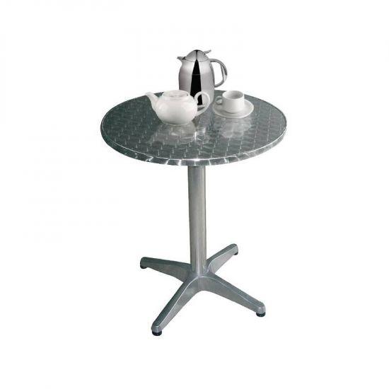 Bolero Round Bistro Table Grey URO U426
