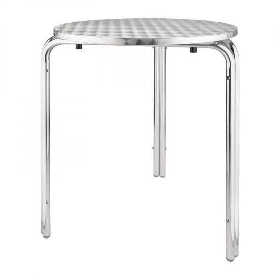 Bolero Round Stackable Bistro Table 600mm URO U431