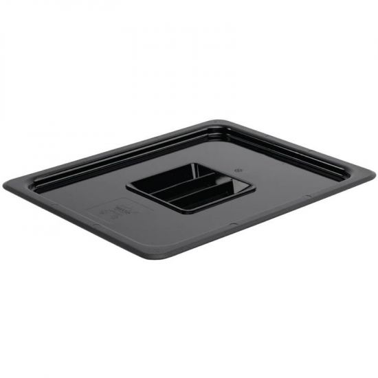 Vogue Polycarbonate 1/2 Black Gastronorm Lid URO U475