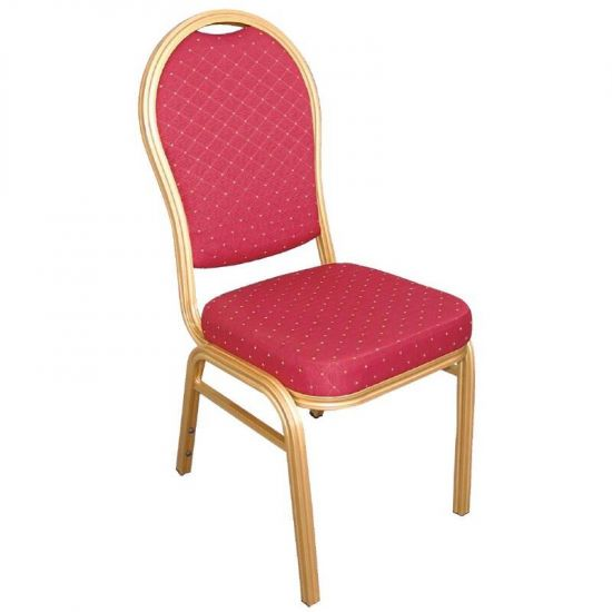 Bolero Aluminium Arched Back Banquet Chairs Red (Pack Of 4) URO U525
