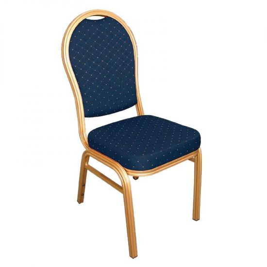 Bolero Aluminium Arched Back Banquet Chairs Blue (Pack Of 4) URO U526