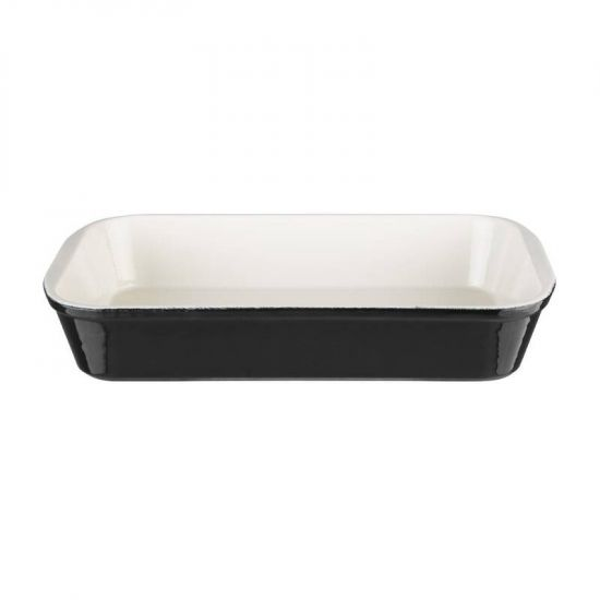 Vogue Black Cast Iron Roasting Dish URO U571