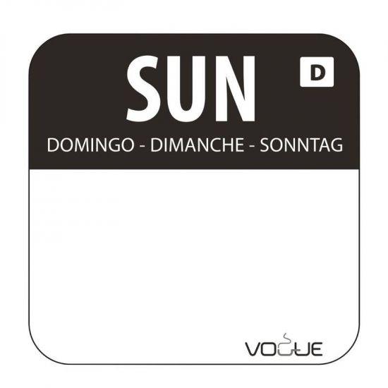 Dissolvable Sunday Food Rotation Labels URO U783