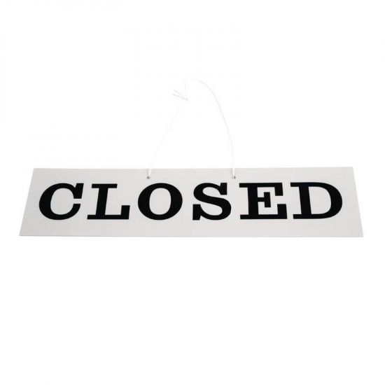 Open And Closed Sign - Reversible URO W212