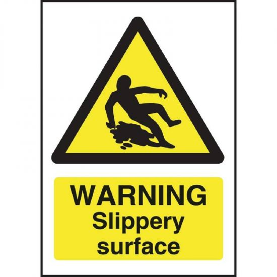 Warning Slippery Surface Sign URO W294