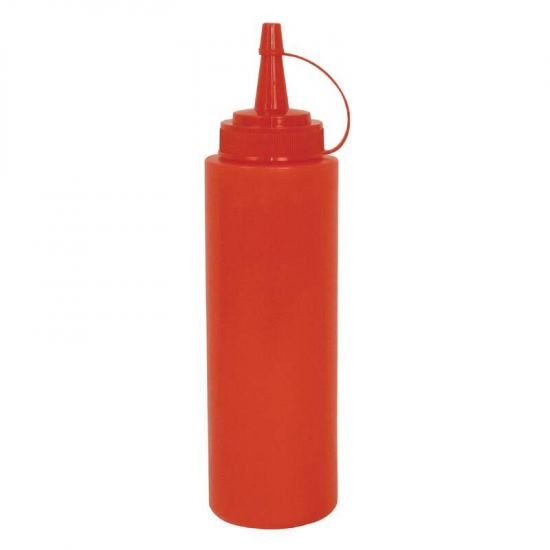 Vogue Red Squeeze Sauce Bottle 35oz URO W833