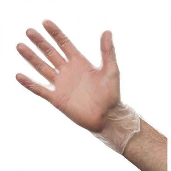 Vogue Powder Free Vinyl Gloves L URO Y247-L