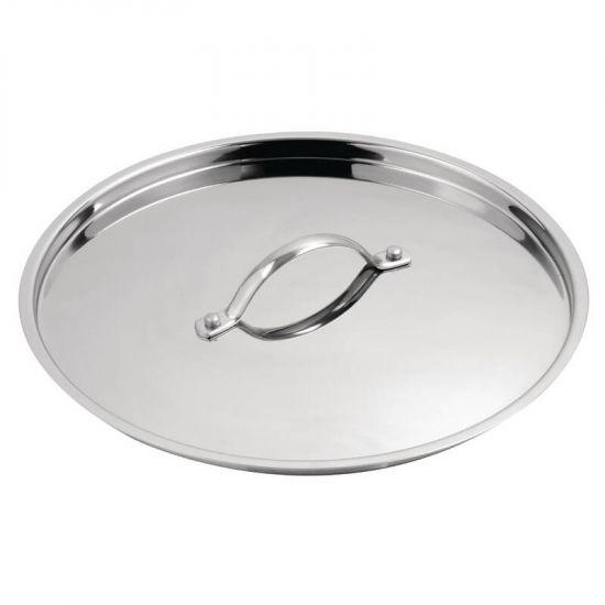 Vogue Stainless Steel Saucepan Lid 180mm URO Y427