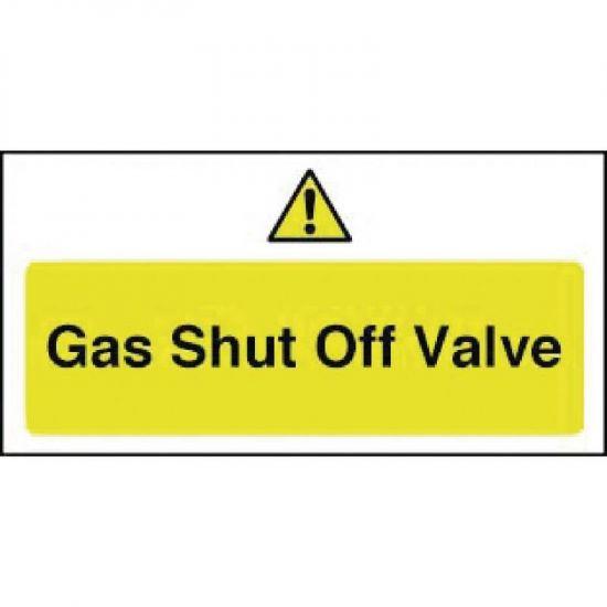 Gas Shut Off Valve Sign URO Y913