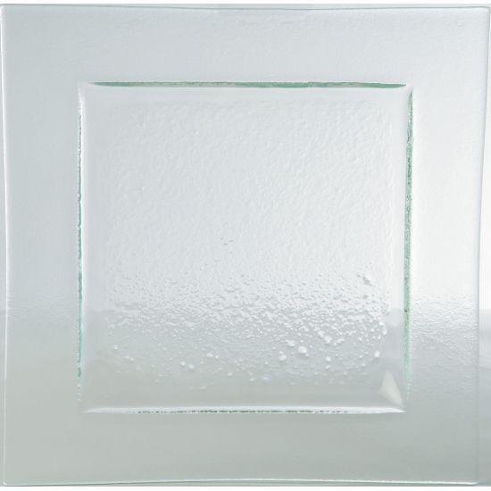 Gobi Square Plate Clear 10.25 Inch (26cm) Box Of 6 UTT AG15301-CLEAR-B01006