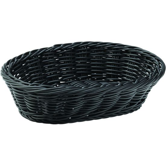 Black Oval Basket 9 Inch (23cm) Box Of 6 UTT CA655003-0000-B01006