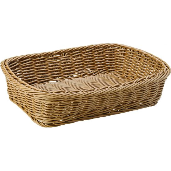 Caramel Rectangular Basket 11.5 X 8.5 Inch (30 X 21.5cm) Box Of 6 UTT CA655225-0000-B01006