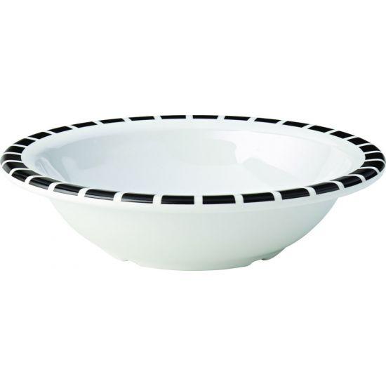 Kingline Black Tile Rimmed Fruit Bowl 6 Inch (15cm) 9.75oz (28cl) Box Of 48 UTT CAKL121DS6195-B01048