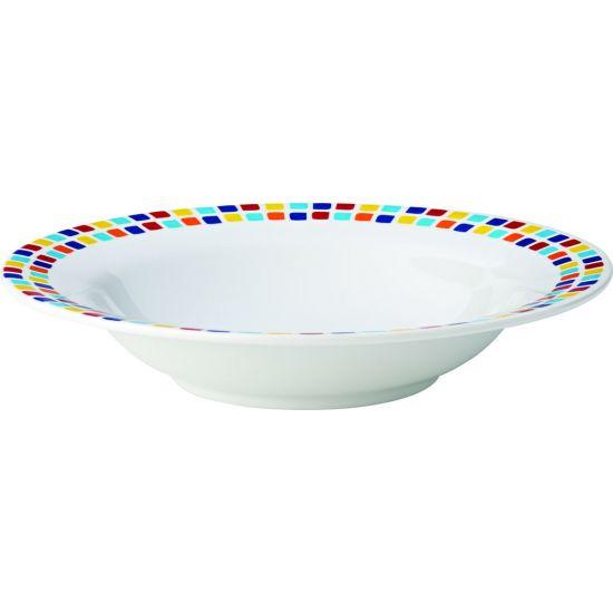 Kingline Spanish Tile Pasta Bowl 7.75 Inch (19.5cm) 9.75oz (28cl) Box Of 48 UTT CAKL123DS6174-B01048
