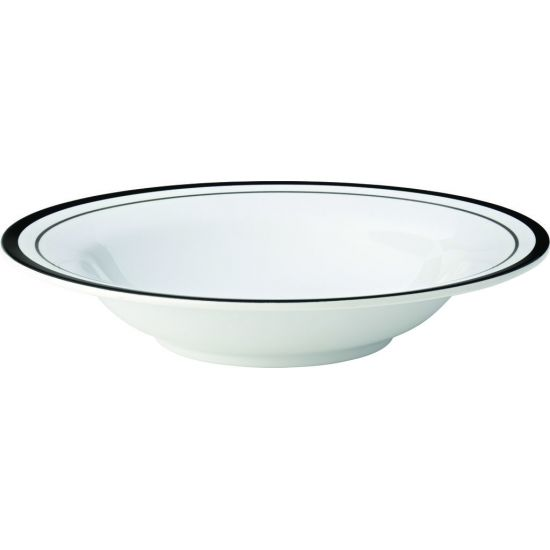 Kingline Black Lines Pasta Bowl 7.75 Inch (19.5cm) 9.75oz (28cl) Box Of 48 UTT CAKL123DS6194-B01048