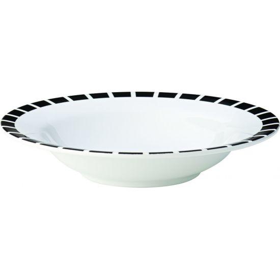 Kingline Black Tile Pasta Bowl 7.75 Inch (19.5cm) 9.75oz (28cl) Box Of 48 UTT CAKL123DS6195-B01048