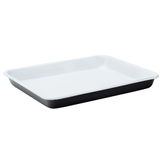 Eagle Enamel Black Baking Tray 11 Inch (28cm) Box Of 6 UTT F50023-000000-B01006