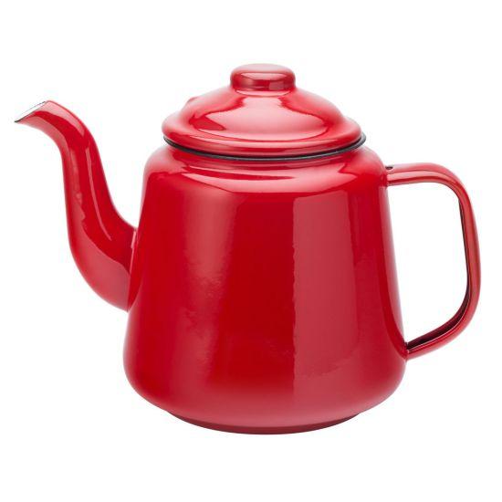 Eagle Enamel Red Teapot 1 Litre Box Of 2 UTT F51009-000000-B01002