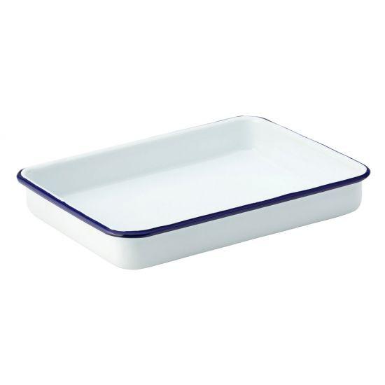 Eagle Enamel Baking Tray 6.75 Inch X 5 Inch (17cm X 13cm) Box Of 12 UTT F51014-000000-B01012