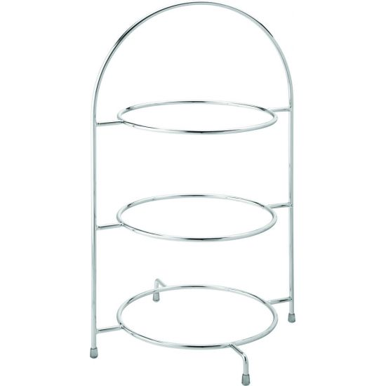 Chrome 3 Tier Cake Plate Stand 17 Inch (43cm) - To Hold 3 X 25cm Plates Box Of 1 UTT F91032-000000-B01001