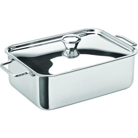 Stainless Steel Rectangular Roasting Dish 6x 4.5 Inch (15 X 11cm) 24.75oz (70cl) Box Of 6 UTT F91033-000000-B01006