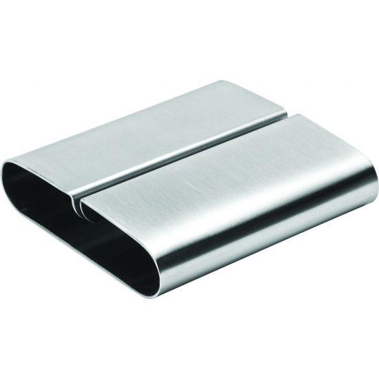 Stainless Steel Rectangular Menu Holder 3.25 Inch (8cm) Box Of 12 UTT F91057-000000-B01012