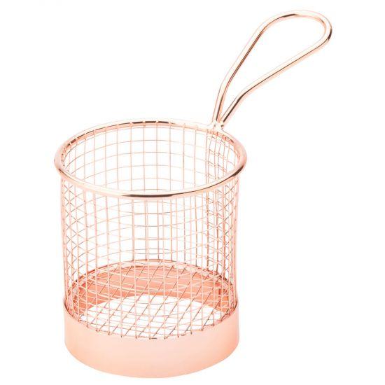 Copper Round Service Basket 3.5 Inch (9cm) Box Of 6 UTT F91154-000000-B01006