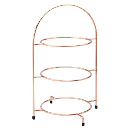 Copper 3 Tier Plate Stand 17 Inch (43cm) - To Hold 3 X 25cm Plates Box Of 1 UTT F91204-000000-B01001